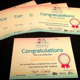 certificate swimming kids
